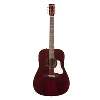 Art & Lutherie Americana QIT Acoustic / Electric Guitar Tennessee Red