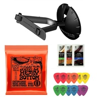 Electric Guitar - Ultimate support hanger tortex picks Ernie Ball 2215 + Polish