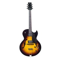 Heritage Standard H-575 Hollow Electric Guitar with Case, Original Sunburst
