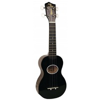Eddy Finn Minnow EF-MN-BK Black Ukulele with Matching Black  Gig Bag