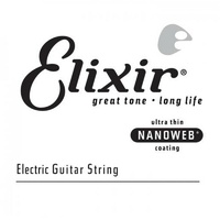 Elixir Strings - Electric Single Guitar String NANOWEB Coating, .026