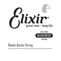 Elixir Strings - Electric Guitar Single String NANOWEB Coating, .052