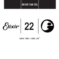 Elixir Strings Anti-Rust Plated Plain Steel  Guitar Single String (.022)