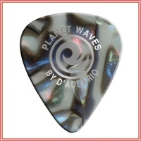 Planet Waves 1CAB4-10 Abalone Celluloid Guitar Picks, Medium, 10 Pack