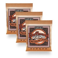 3 sets Ernie Ball 2146 Regular Phosphor Bronze Acoustic Guitar Strings 12 - 54