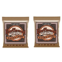 2 sets Ernie Ball 2150 Earthwood .010-.050 Extra Light  Acoustic guitar Strings