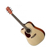 CORT MR500E OP ACOUSTIC GUITAR LEFT HAND NATURAL OPEN PORE W/ PICKUP
