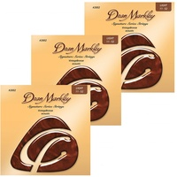 3 x Dean Markley 2002 VintageBronze 85/15 Bronze Light Acoustic Strings 11 - 52