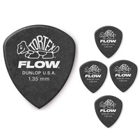 Dunlop Tortex Flow Standard Guitar Picks 558 Black 1.35mm - 5 Picks
