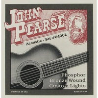 John Pearse Phosphor Bronze Acoustic Guitar Strings 640 Light/Medium Custom 12-55