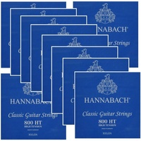 10 sets Hannabach Classical Set-Silv .E800HT Blue High Tension Set 800 HT x 10