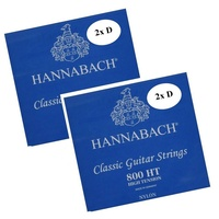 "2X Hannabach 800HT Classical Guitar Strings Set High Tension 800 HT "" Extra D """