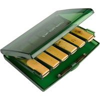 Protec Bb Clarinet Reed Case Holds  12 Reeds - Transparent Lime