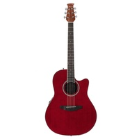 Ovation Applause Standard Mid Depth Acoustic / Electric Guitar Ruby Red