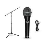 AKG D8000M Microphone with Cable and Boom Stand Pack