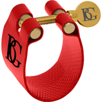 BG LFT9 Ligature with Cap for Tenor Saxophone - Flex Fabric Red Made in France