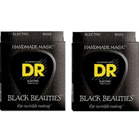 2 sets DR BKB5-40 K3 Black Beauties 5-String Electric Bass Strings (40-120)
