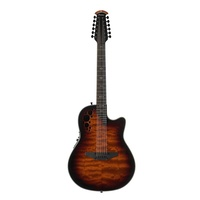 Ovation ExoticWoods Custom Elite 12-string Acoustic / Electric Guitar With Case