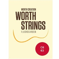 Worth Ukulele Strings Clear Fluoro-Carbon 6 - string Tenor Uke Set 63 inch