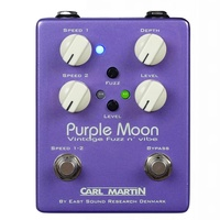 Carl Martin Purple Moon Vintage Fuzz and Vibe Effects Pedal