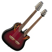 Ovation CSE225 Celebrity Double Neck Acoustic-Electric Guitar Ruby Red Burst