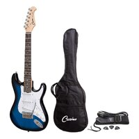 Casino ST-Style Short Scale 3/4 Size Electric Guitar Set Blueburst