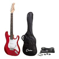 Casino ST-Style Electric Guitar Candy Apple Red  W/ Bag and Strap