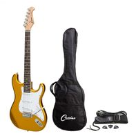 Casino ST-Style Electric Guitar (Gold Metallic) w/ Bag and Strap