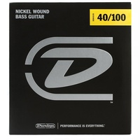 Dunlop String Set Nickel Wound Bass Guitar Strings 40 - 100 DBN40100