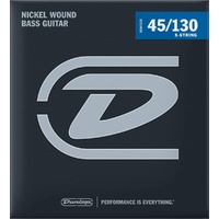 Dunlop DBN45130 Nickel Wound 5-string Bass Strings - .045-.130