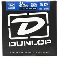 Dunlop DBS45125 Stainless Steel Medium 5-String Bass Guitar Strings 45 - 125