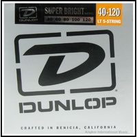 Dunlop Super Bright  Nickel wound 5-String Bass Guitar strings Light 40 - 120