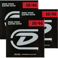 3 Sets Dunlop DEN1046  Electric Guitar Strings  Light  10 - 46