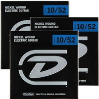 3 Sets Dunlop DEN1052  Electric Guitar Strings Lite / Heavy 10 - 52