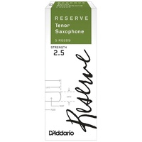 D'Addario Woodwinds Rico Reserve Tenor Saxophone Reeds, Strength 2.5, - 5 pack