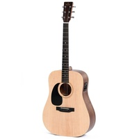 Sigma DMEL Left-Hand Acoustic / Electric  Guitar w/ Solid Spruce Top