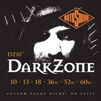 RotoSound DZ10 Nickel Plated Darkzone  Electric Guitar Strings  10 - 60
