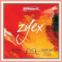 D'Addario DZ310A  Zyex Series Violin Strings Set  4/4 Size Light, Aluminum D