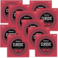 10 Sets D'Addario EJ27N Classic Nylon Classical Guitar Strings, Normal Tension