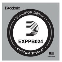 D'Addario EXPPB024 EXP Coated Phosphor Bronze Acoustic Guitar Single String .024