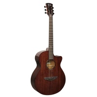 Faith FPVCG - Nexus Venus Cutaway Acoustic / Electric Cognac Guitar with Bag