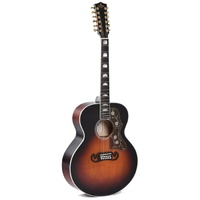 Sigma GJA12-SG200 12-String Electric / Acoustic Guitar  Dark Vintage Sunburst