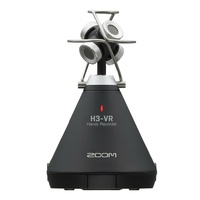 Zoom H3-VR 360° VR Audio Recorder with 4-mic Ambisonic Array Auto mic detection