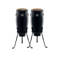 "Meinl  Percussion Headliner Conga Set 10"" and 11"" Wood  Black Finish"