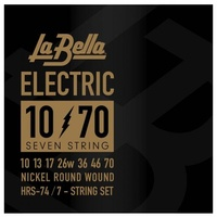 La Bella HRS-74 7-String Electric Guitar Strings Designed for drop Tune 10 - 70