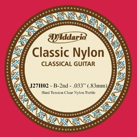 D'Addario J27H02 Student Nylon Classical Guitar Single B String  Hard Tension