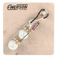 Emerson Custom Prewired Kit - Fender Jazz Bass Prewired Kit with 3 Emerson Pots