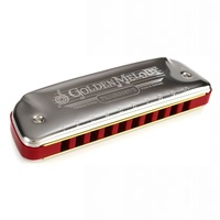Hohner Golden Melody Harmonica - Key of G with Equal-tempered Tuning for Melody Playing