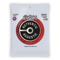 Martin Authentic Acoustic Lifespan 2.0 Treated Guitar Strings - 92/8  11- 52
