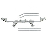 Meinl Percussion Multi Clamp 4 Mount Includes 2 Straight Rods 2 angled Rods